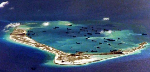 """قائد بحري امريكي:""""تصرفات الصين العدوانية في بحر الصين الجنوبي"""" غير مقبولة"""